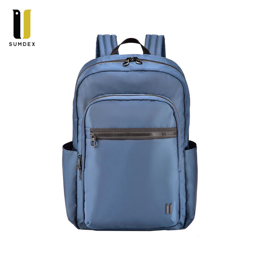 SUMDEX 14吋平板時尚彩色商務休閒雙肩電腦包NON-530BU碧藍