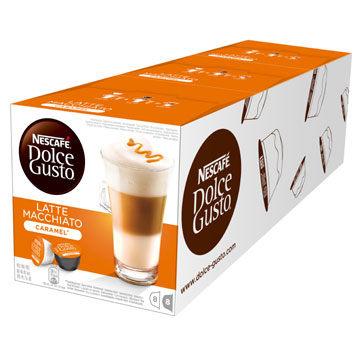 雀巢新型膠囊咖啡機專用焦糖瑪奇朵咖啡膠囊一條三盒入料號12180872拿鐵與焦糖的戀愛滋味