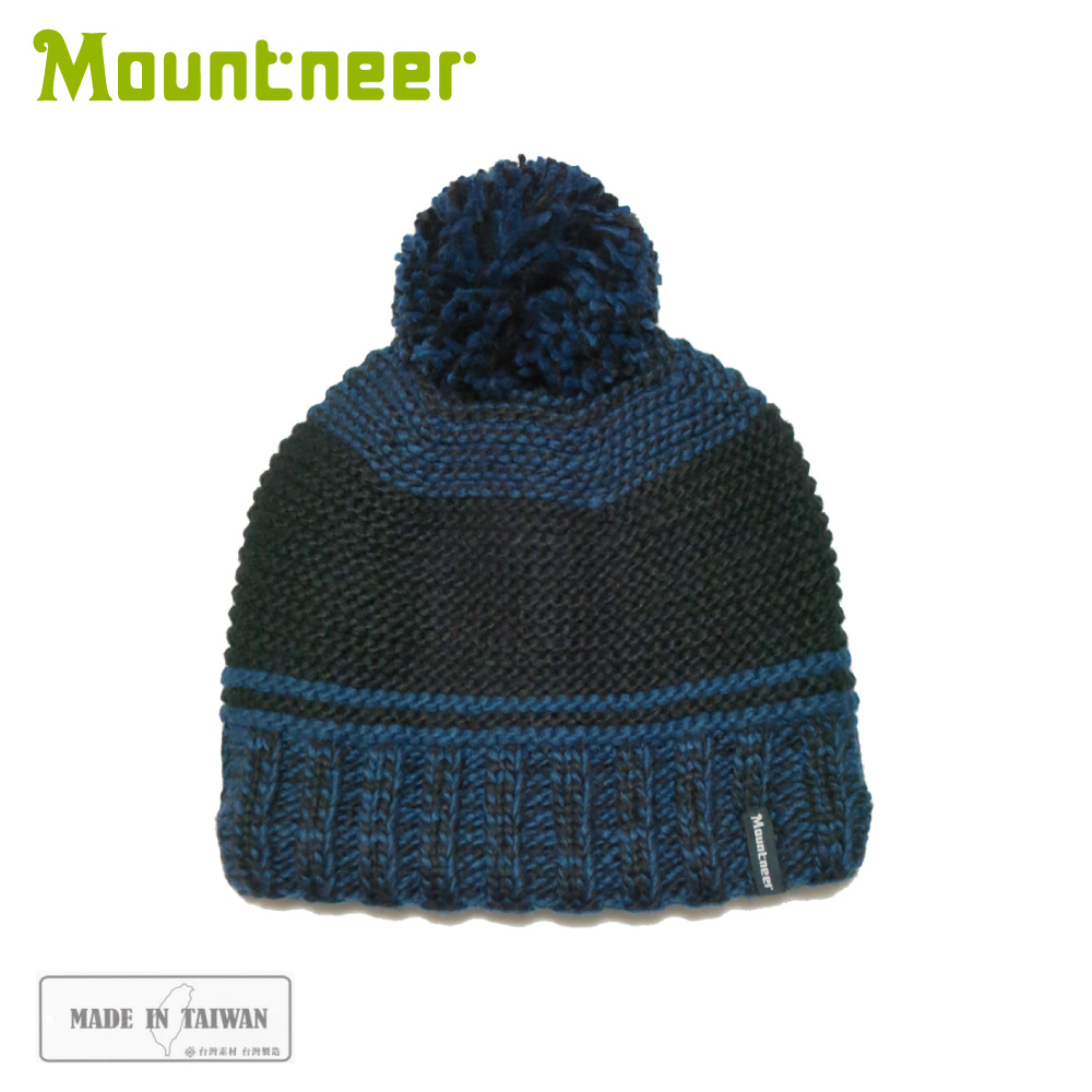 【Mountneer 山林 保暖針織毛線帽《丈青》】12H63/休閒帽/毛帽/保暖帽