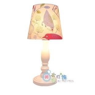 設計師美術精品館田園風格宜家風格木質臺燈臥室床頭燈簡約布藝燈飾白色特價促銷