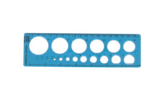 徠福 射出成型定規(圓定規) TP-105 / 片