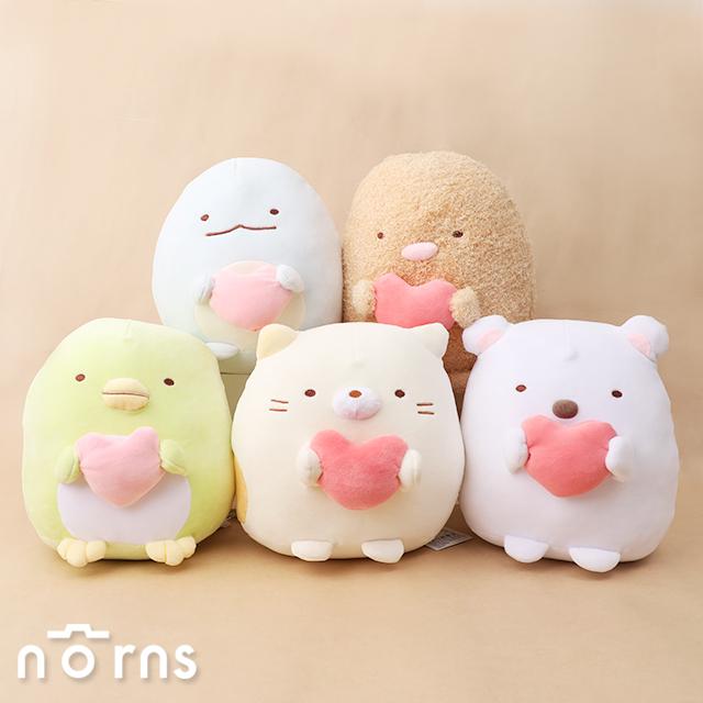 【角落生物娃娃 抱愛心9吋】Norns 正版授權 絨毛玩偶
