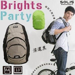SOLIS炫彩派對系列自行車電腦後背包B06003深邃黑01900057-00035