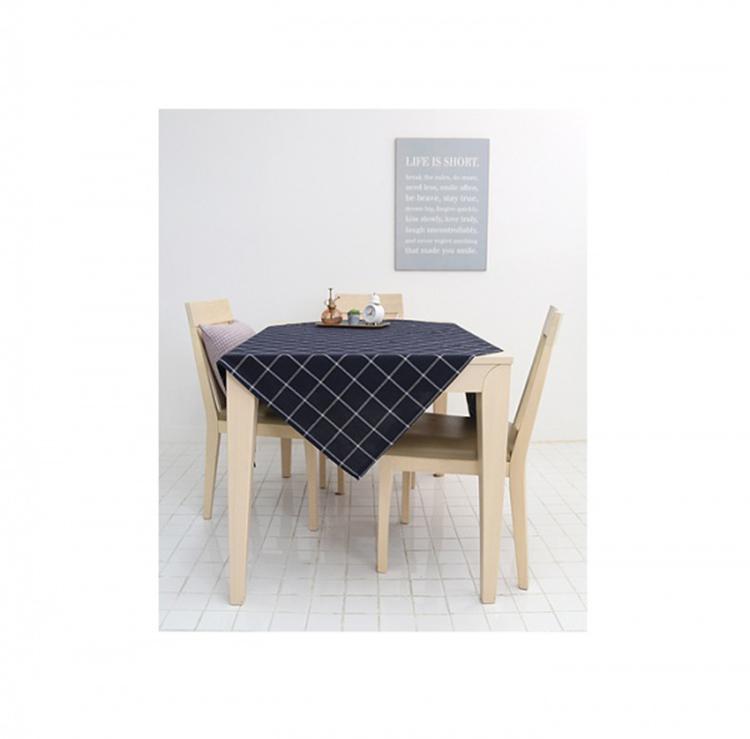 Mamae 130*110出口韓國藍色格子風格桌布時尚風格餐廳廚房餐巾野餐露營桌蛋捲桌