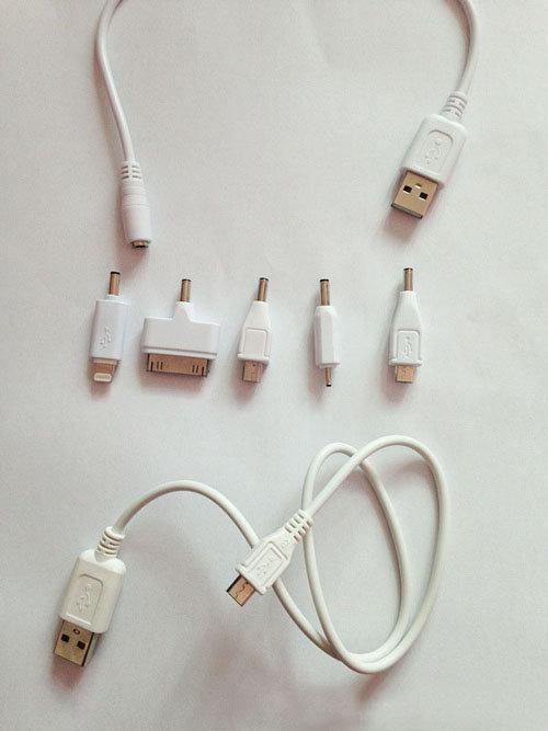 現貨轉接頭5合1雙線移動電源轉接線iPhon移動電源c 0014