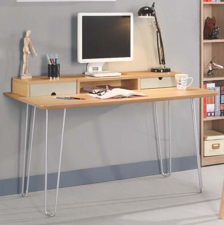 森可家居碧琳達4.3尺書桌6CM891-1木紋質感輕工業風辦公工作桌