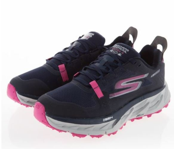 SKECHERS GO TRAIL ULTRA 4 女款運動慢跑鞋 粉深藍-NO.15246NVPK