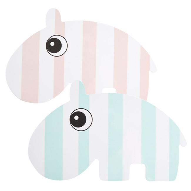 丹麥DONE BY DEER造型點心盤粉色河馬藍色河馬