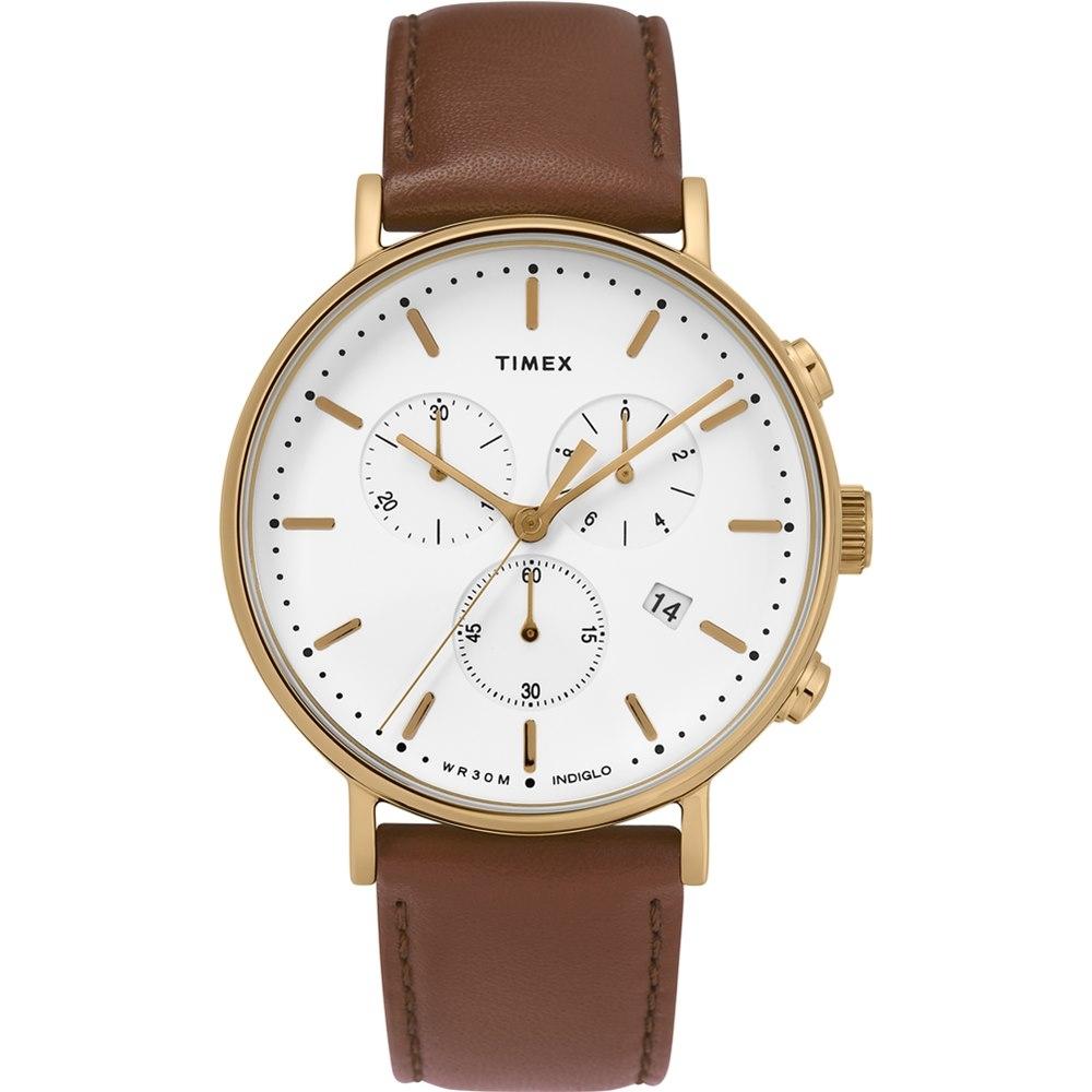 【TIMEX】天美時 復刻系列 簡約復古手錶  (棕/白TXTW2T32300)