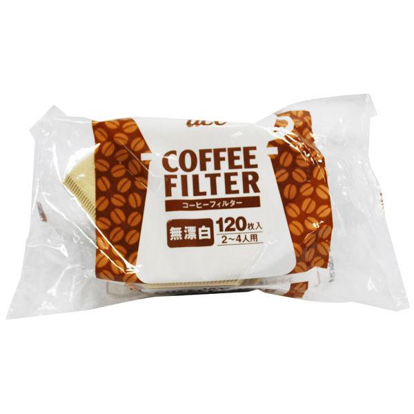 日本【UCC】無漂白咖啡過濾紙  2-4人份用  / 120入