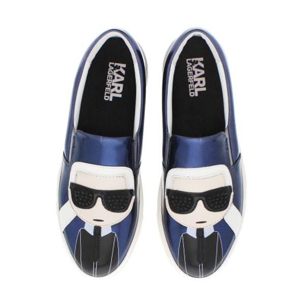 Karl Lagerfeld女鞋 KUPSOLE Q版樂福鞋- 金屬深藍