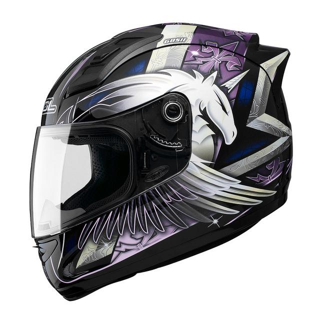 SOL 68Sll獨角獸三代黑紫全罩安全帽69S免運費加贈好禮