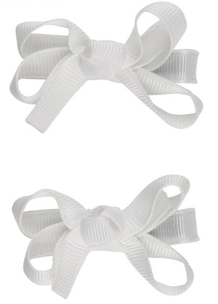 俏麗蝴蝶結髮夾: 天使白: RB-HB-70312