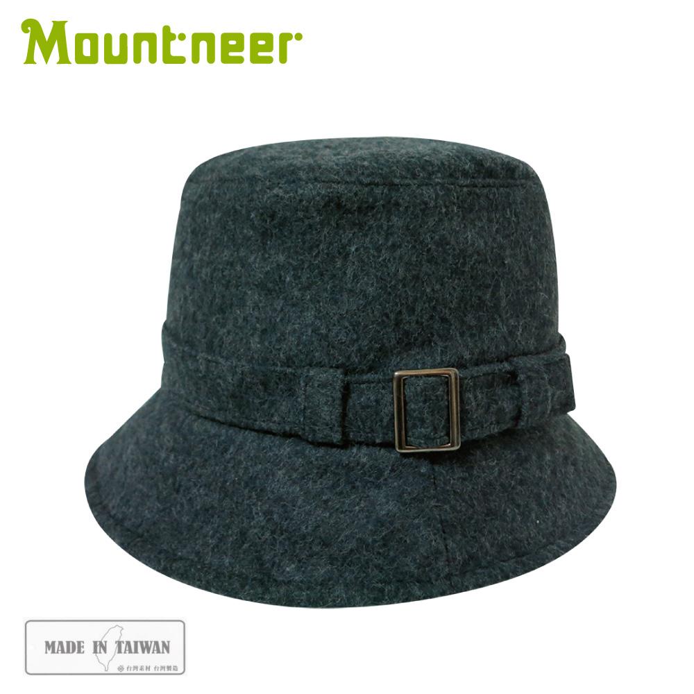 【Mountneer 山林 羊毛保暖筒帽《黑灰》】12H16/羊毛帽/保暖帽/休閒帽