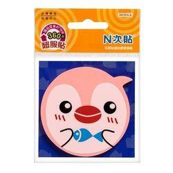 《☆享亮商城☆》61808 (粉紅)環狀膠-企鵝造型螢光便條紙