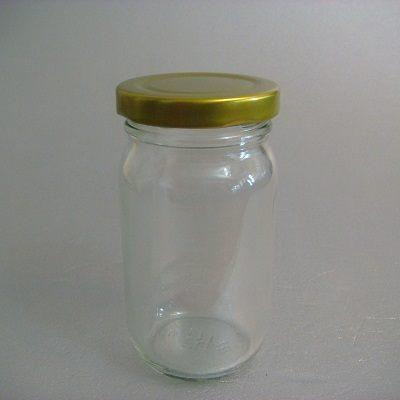 金蓋瓶(長圓柱型-200ml)/玻璃瓶/儲物罐/收納罐/糖果罐/保鮮罐