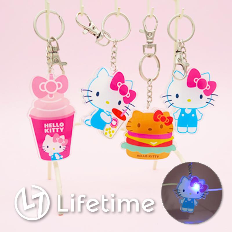 ﹝Kitty45週年壓克力發光鑰匙圈﹞正版LED燈吊飾 鑰匙扣 凱蒂貓 三麗鷗〖LifeTime一生流行館〗