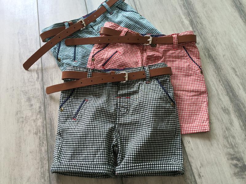 FUOCO~韓原單中性款格子褲(三色)~18-24M/2-3T/3-4T/4-5T/5-6T/7-8T