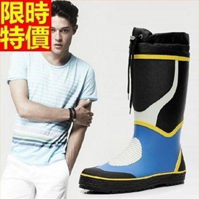 男雨靴-男雨具戶外釣魚防滑耐磨時尚男長筒雨鞋67a31[時尚巴黎]