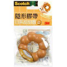 奇奇文具3M Scotch隱形膠帶3M 810BD-1日系造型甜甜圈蜜糖波提隱形膠帶台