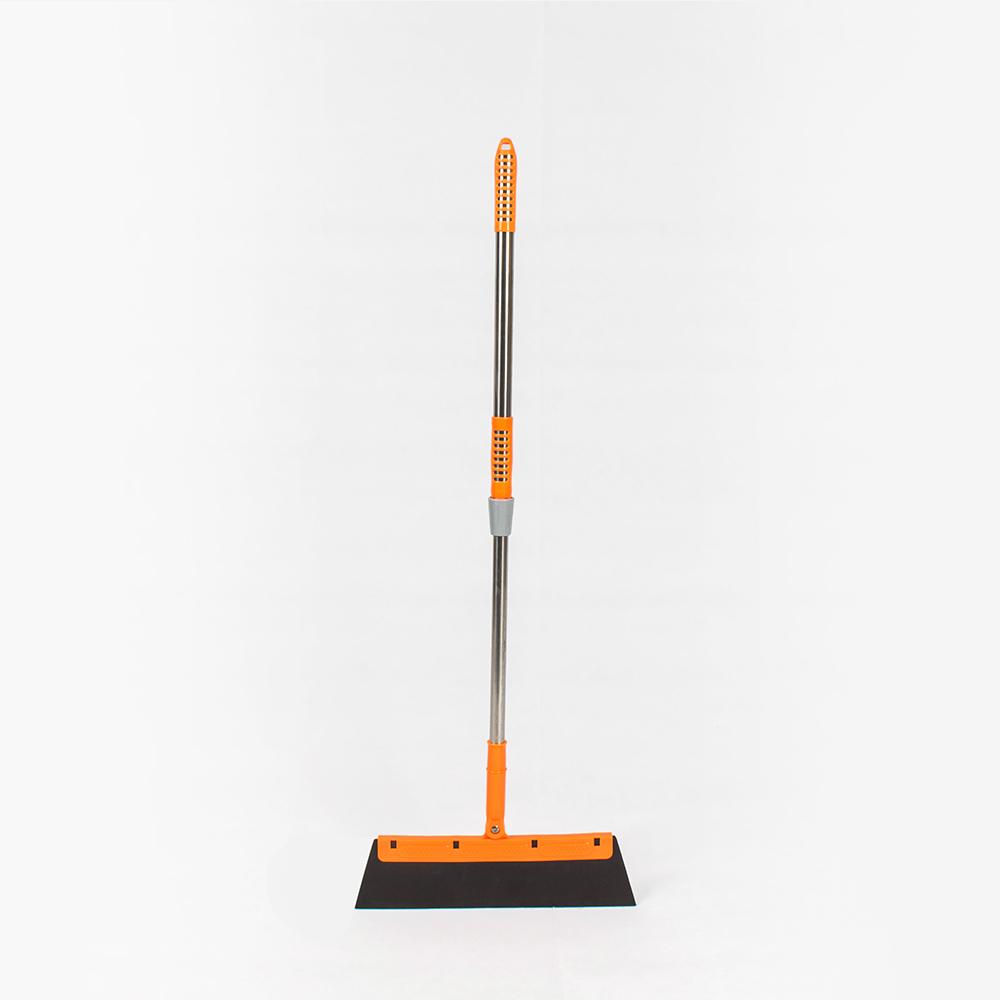 樂嫚妮 魔術伸縮除塵掃把 乾溼二用-橘