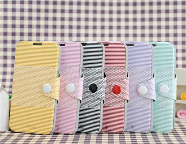 iphone 5 免運   iphone 5 note 2 小清新紐扣 左右開支架皮套(任選二個$900)