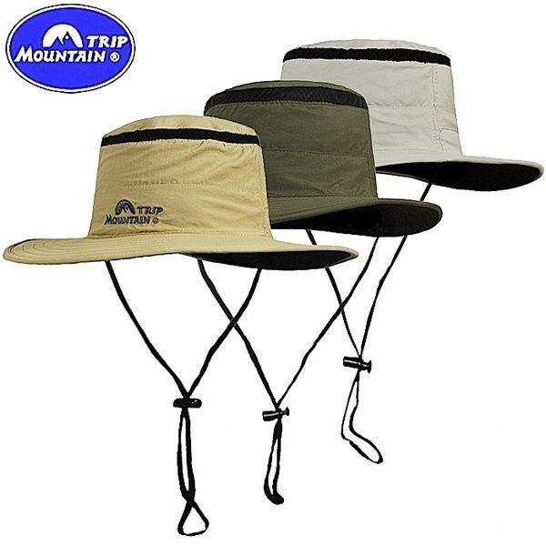 我愛買Mountain大邊帽遮陽帽透氣帽漁夫帽釣漁帽寬邊帽圓盤帽擴邊帽闊葉帽大盤帽休閒帽防曬帽