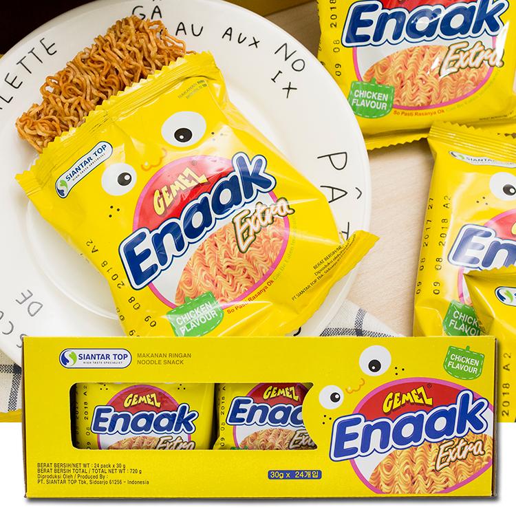 韓國Enaak大雞麵30gx24包盒裝720g小雞點心麵重量包