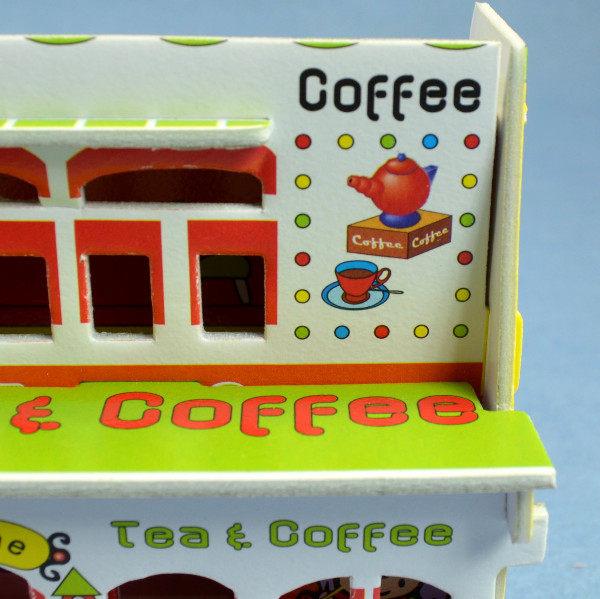佳廷家庭親子DIY紙模型3D立體拼圖贈品獎勵品專賣店小小實習店長義式咖啡店CALEBOU卡樂保