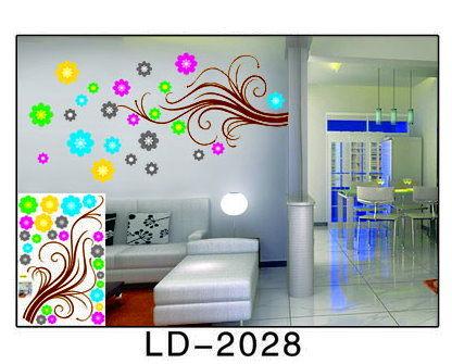 特大款LD-2028第三代可移動式DIY藝術裝飾無痕壁貼/牆貼/防水貼紙