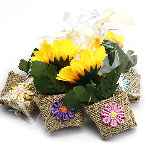 幸福婚禮小物陽光向日葵盆栽磁鐵-10入吸鐵探房禮桌上禮二進禮物活動小禮物送客禮