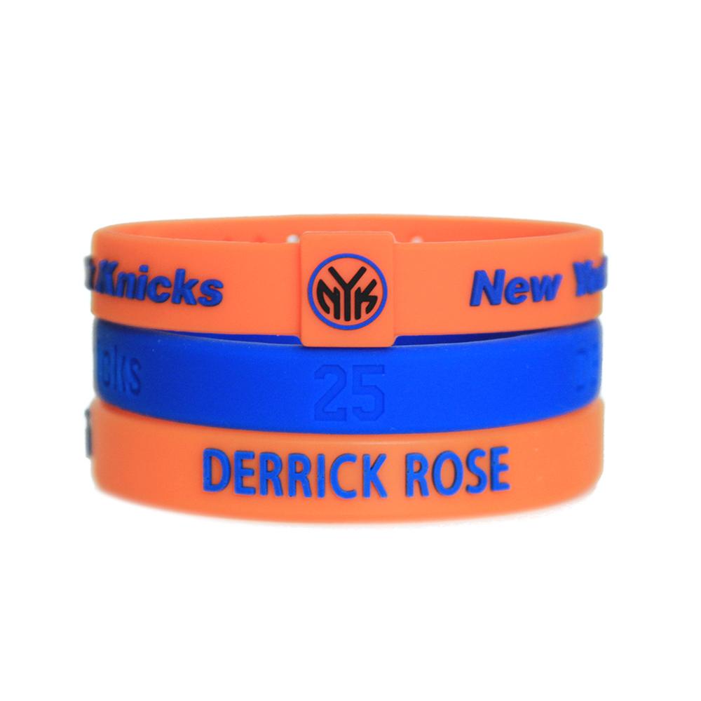 NBA官方授權正版 運動矽膠手環 籃球運動手環 紐約尼克 Derrick Rose 飆風玫瑰羅斯 組合套裝