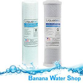 【Banana Water Shop】《2支裝》LIQUATEC通過美國NSF認證5微米PP濾心 10微米活性碳濾心各1支/10吋濾心