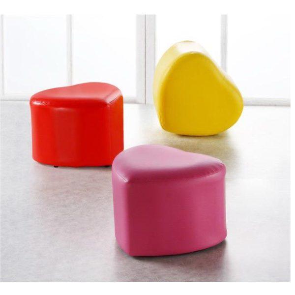 2入《戀戀風情》心型客廳桌邊椅凳(紫、黃、紅)