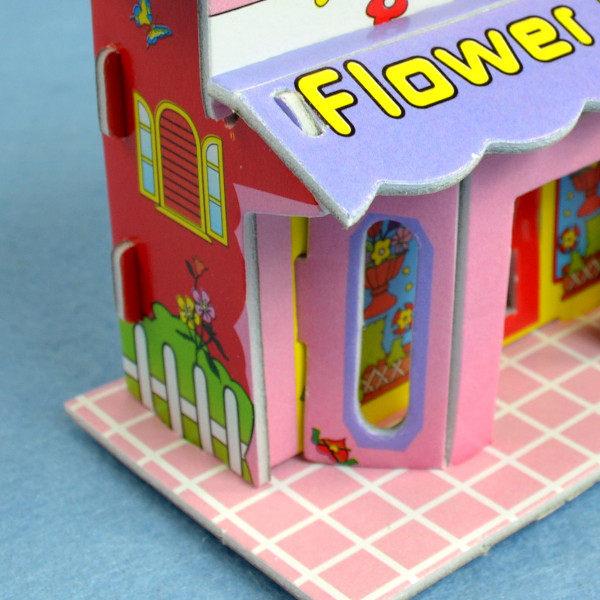 佳廷家庭親子DIY紙模型3D立體拼圖贈品獎勵品專賣店小小實習店長愛情花藝店CALEBOU卡樂保
