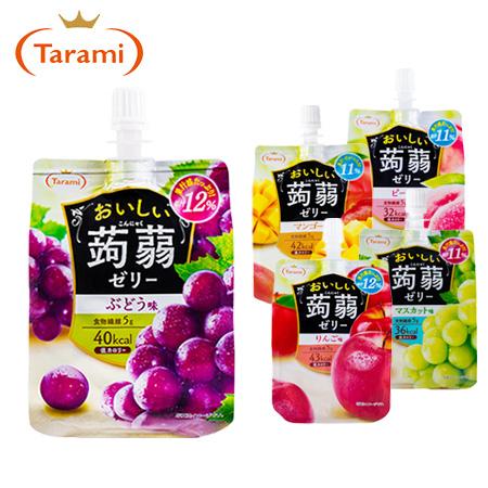 日本Tarami達樂美果凍飲便利包150g果凍飲蒟蒻果凍飲果汁凍飲