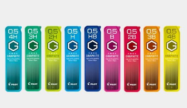 義大文具批發網~PILOT 超級G 0.5mm 自動鉛筆芯 HRF-5G /4H/3H/2H/H/HB/B/2B/3B/4B筆芯