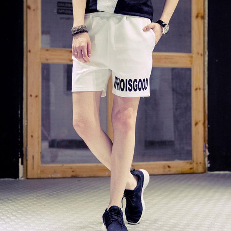 Mao  【限量出清超低價】日韓新款時尚字母款寬松休閒舒適短褲