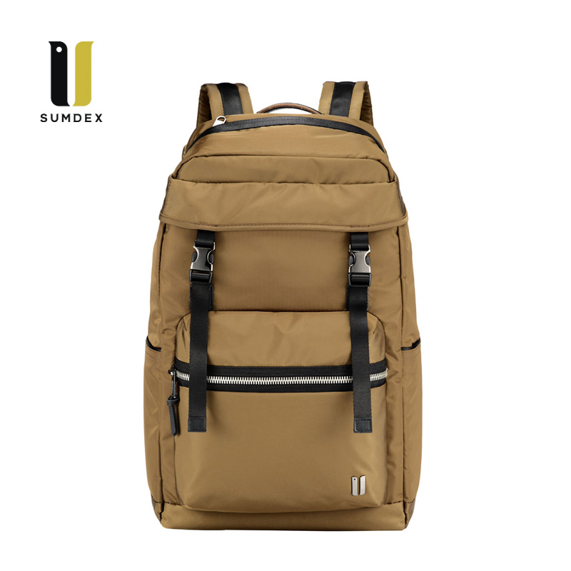 SUMDEX 15.6吋10吋平板輕旅潮流後背包NON-794TK柚木色
