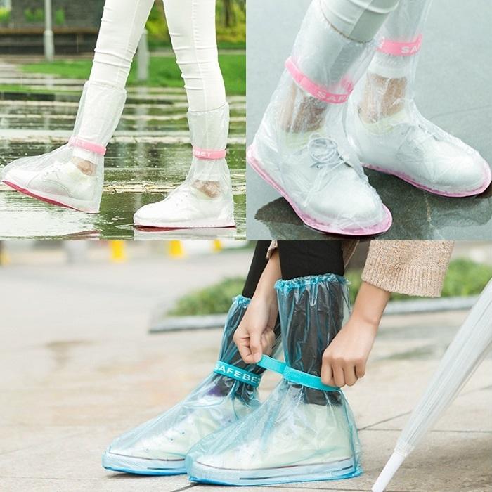 加厚防滑款 防水鞋套 高筒長筒 雨鞋 防雨套 鞋子專用防下雨 騎車 雨傘 雨天【RS629】