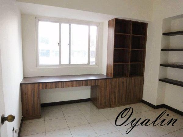 歐雅系統家具北美胡桃E1V313系統櫃L型書櫃加書桌系統吊櫃系統櫃工廠