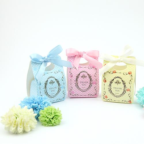 幸福婚禮小物DIY典雅可愛點點玫瑰喜糖盒桌上禮送客禮