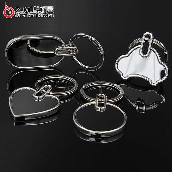 Z-MO鈦鋼屋造型拋光鑰匙圈精緻質感皮帶扣創意禮物推薦單個價KLA052
