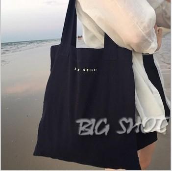 斜背包-單肩包女大包韓版帆布學生手提袋純色字母帆布包大帆布袋大咖玩家