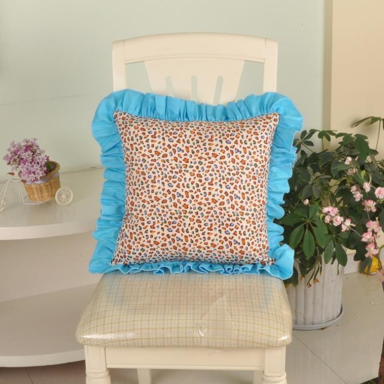 [超豐國際]棉 抱枕田園沙發靠墊床頭辦公室靠枕方形可拆洗