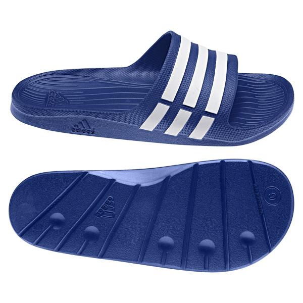 Adidas Duramo Slide男女經典休閒拖鞋白藍G14309