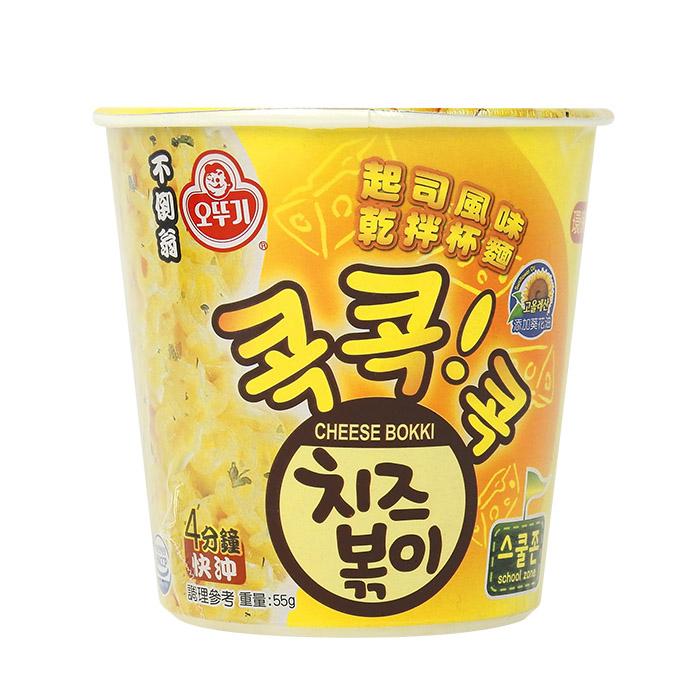 韓國 OTTOGI 不倒翁 起司風味 乾拌杯麵 55g 乙杯裝 ◆86小舖 ◆