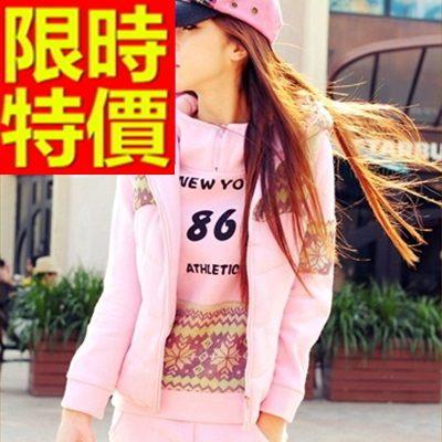 運動服套裝三件式熱賣有型-純棉保暖長袖韓版女休閒服6色63s43時尚巴黎