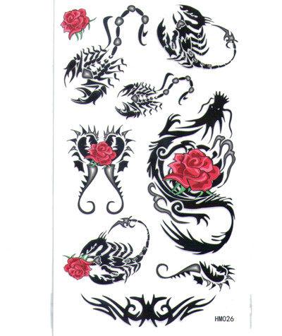 薇嘉雅   龍 蠍子 紋身貼紙 HM026