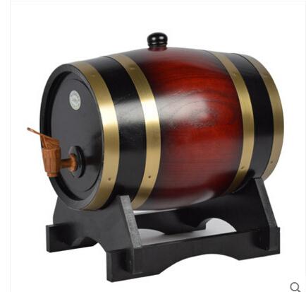 桶藝達木質橡木桶酒桶木桶5L